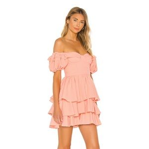Revolve- Pink Mini Puff Sleeve Teacup Dress